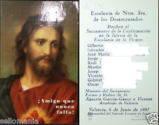 ESTAMPA SACRAMENTO CONFIRMACION ESCOLANIA VIRGEN VALENCIA 1997 HOLY CARD C729