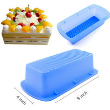 Rectangle Silicone Baking Mold Non-stick Toast Bread Cake Kitchen Bakeware Pan