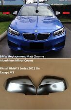 BMW 3 Series F30 F31 F34 F35 Polished Aluminium Mirror Covers Replacement Type