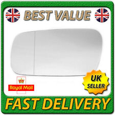 Left Passenger Near Side Wide Angle Wing Mirror Glass for HONDA PRELUDE 1987-91