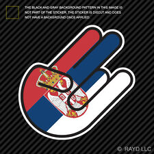 Serbian Shocker Sticker Die Cut Decal Self Adhesive Vinyl Serbia SRB RS