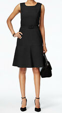 Nine West New The Essential Belted Fit & Flare Dress Size 6 MSRP $79 #GN 399