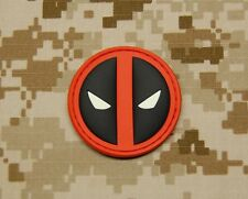 3D PVC Deadpool GITD Morale Patch Hook Backing