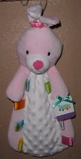 TAGGIES PINK BUNNY RABBIT BABY SECURITY BLANKIE BLANKET RATTLE NEW!