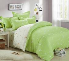 Moon Star Bedding Set Cotton Duvet Quilt Cover Set Twin Queen Size 4 Colors
