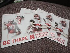 (3) Alonzo Moore Westerkamp Reilly Nebraska Receivers 2016 Husker Schedule Card