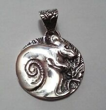 Chinese Zodiac - Year of The Rat Sterling Silver Pendant Animals & Insects