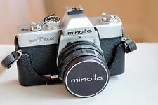 MINOLTA SRT100x 35mm Film SLR Manual Camera + Minolta 55mm f/1.8 ROKKOR-PF Lens
