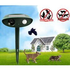 Ultrasonic Solar Animal Repeller Rid Repels Rabbits Suirrels Skunks Deer Bat New