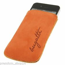 Bugatti Etui Ledertasche HANDYTasche Slimcase mandarin für Apple iPhone 4 & 4S