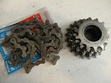 SACHS Maillard freehub cassette 7 speed 14 21 cogs with chain VGC Campagnolo