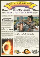Vintage ad for Northen Ink eXposure Internationl Tattoo Convention Toronto Can.