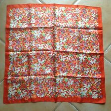 Vintage LIBERTY 'Red Floral' Silk Scarf M.I.England