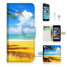 "iPhone 6 (4.7"") Print Flip Wallet Case Cover! Beach and Sea P0336"