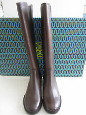 $495 BNIB Tory Burch CHRISTY 30mm TUMBLED LEATHER Riding Boots Coconut sz 9.5 US