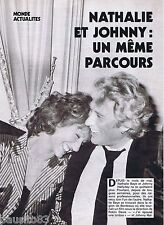 COUPURE DE PRESSE CLIPPING 1982 NATHALIE BAYE & JOHNNY HALLYDAY     (5 pages)