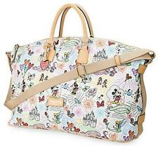 NWT DOONEY & BOURKE DISNEY SKETCH Leather Large WEEKENDER BAG Overnight Luggage