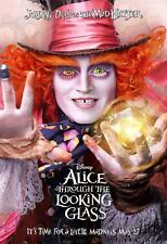 POSTER ALICE THROUGH THE LOOKING GLASS JOHNNY DEPP ANNE HATHAWAY LOCANDINA #2