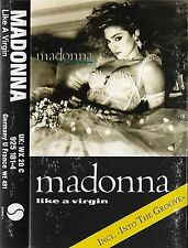 MADONNA LIKE A VIRGIN CASSETTE  SIRE Electronic Synth-Pop Into the Groove 181-4