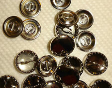 "Dritz COVER BUTTON Size 24L (5/8"") 12 pc Metal Shank back Buttons"
