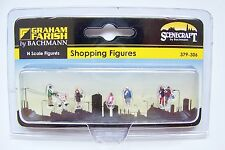 N scale Scenecraft SHOPPING FIGURES / Shoppers with a Stroller  # 306