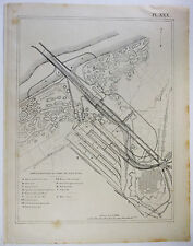 Vintage Original French Map of the Port of Nieuport, Belgium in 1894 Neiuwpoort