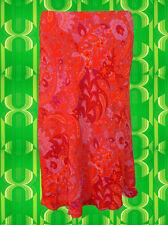 G259 gasolina Indian Gipsy hippie Boho paisley rock folk rojo estampadas talla 38