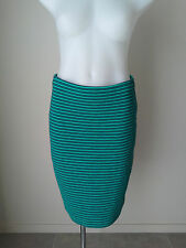 As New SUSSAN S Short Green Blue Stripe Stretch Knit Skirt Buy Any 3=Free Post