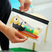 Mr BABBA Mustache Pen Bag kawaii school Zip Pouch trinket makeup cosmetic case