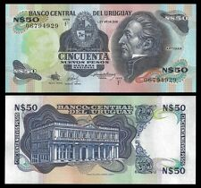 Uruguay 50 Nuevos PESOS ND 1988 Serie F P 61 UNC  OFFER !
