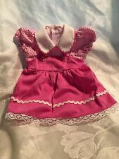 "Doll Clothes-Pink checked Dress-American Girl/Springfield/18"" doll"