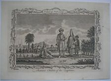 1771 ENGRAVING EGYPTIANS IN SUMMER CLOTHES MEN WOMEN DRESS EGYPT FASHION HISTORY