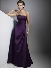 UK Stock Long Evening Formal Party Ball Gown Prom Bridesmaid Wedding DressSz6-18