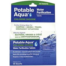 NEW Potable Aqua Chlorine Dioxide Water Purification 30-Tablets 2-Pack (60 Tabs)
