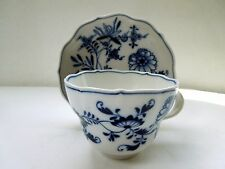 MEISSEN Large Tea Cup Saucer Set Blue Onion Zwiebelmuster Royal Flute Form HP