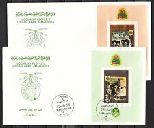/ Libya, Scott cat.865-866. Pan Arab Scout s/sheets on a 2 First day covers.