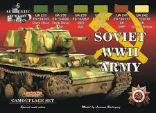 a LIFECOLOR CS.23 - Set 6 Colori Acrilici - SOVIET WWII ARMY