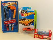 Hot Wheels 73 Ford Falcon And Clip Pens And Bayer 33 Die Cast Cars Gift