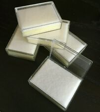 Jewelers 5pcs acrylic individual small clear box for diamond/ gemstones storage.