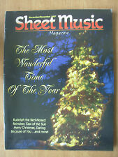 SHEET MUSIC MAGAZINE NOVEMBER 1997 - RUDOLPH THE RED NOSED REINDEER
