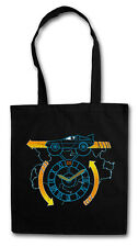 Clocktower run hipster Tote Bag back to DeLorean the future sustancia bolsa