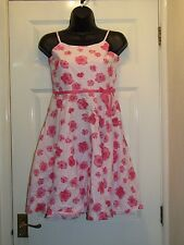 NEXT LIGHT PINK ROSE FLORAL DRESS - Age 11 Years