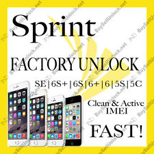 Official Sprint Clean & Active Factory Unlock Service iPhone 5C 5S 6P 6S+ 7 7+