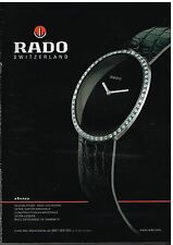 Publicité Advertising 2003 La Montre Rado Switzerland