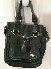 Green Calfskin Leather Gold Hardware Chloe Bag