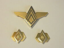 Battlestar Galactica Deluxe Admiral Cloisonne Metal Pin Set of 3, NEW UNUSED