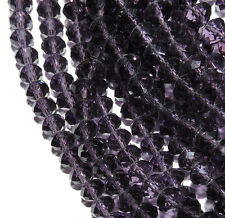 Tanzanite Purple Faceted 8mm Rondelle Beads 70 Piece Luster Glass Crystal Beads