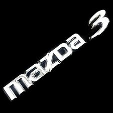"""MAZDA 3"" BADGE LOGO CAR CHROME SILVER EMBLEM STICKER REAR TRUNK SKYACTIV SEDAN"