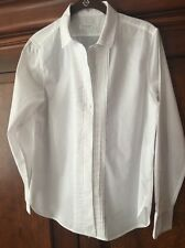 Equipment Femme Women's Tuxedo Button Down Shirt Blouse Top White Small Cotton