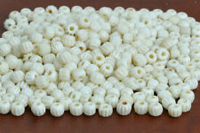 140 PCS OFF WHITE CARVED ROUND BUFFALO BONE BEADING BEADS 6MM #T-1623